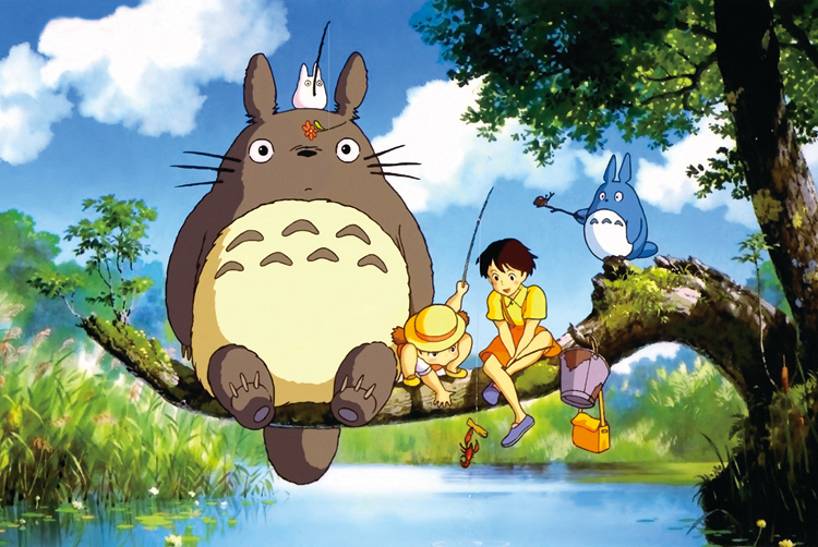 Shipping 1000 adult cartoon luminous puzzle scenery from early childhood intellectual toys Totoro fishing