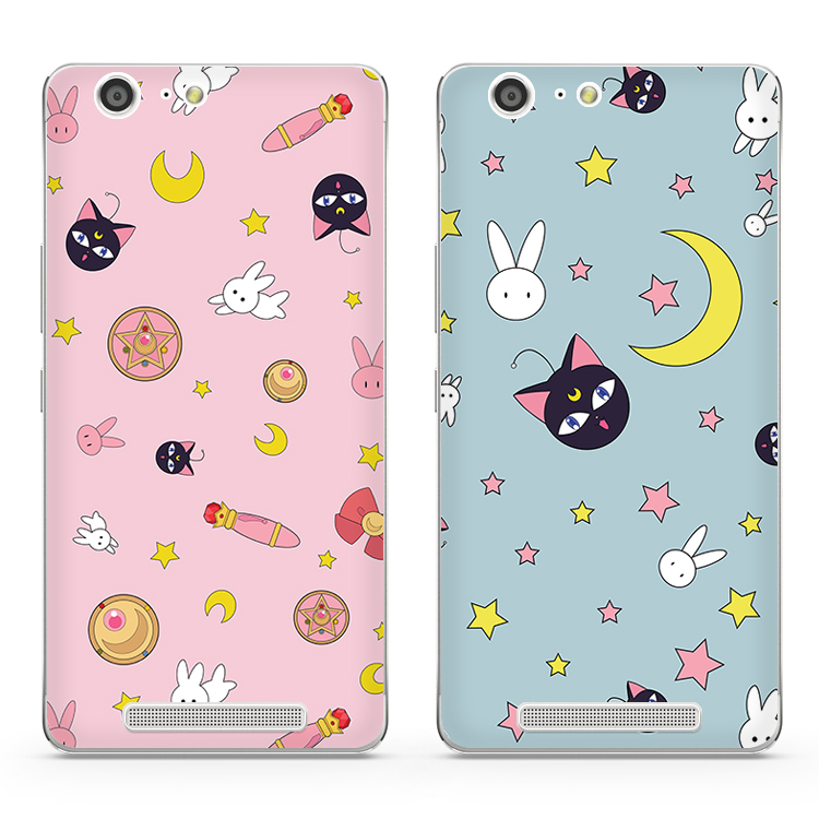 Jin M5 mobile phone M6 case cartoon silicone soft shell sailor Lanyard NEW female tide