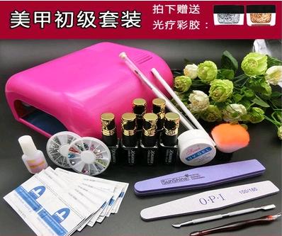 La confezione per sigillare la suola di Gomma rivestiti di fototerapia Mech Olio di unghie di strumenti Set Manicure Luce