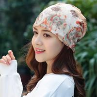 帽子女春夏套头透气化疗帽女薄光头睡帽堆堆百搭头巾女月子包头帽