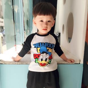 2019春装儿童长袖T恤男童装宝宝上衣女童打底衫纯棉夏装体恤短袖