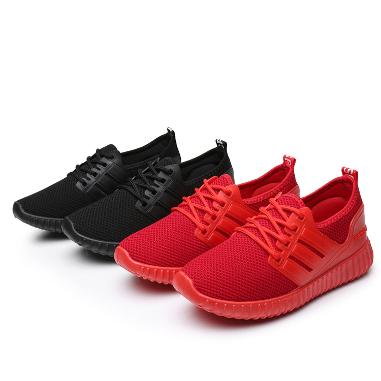 小红鞋女2017春秋季透气女鞋休闲运动跑步鞋飞织布鞋老北京布鞋女