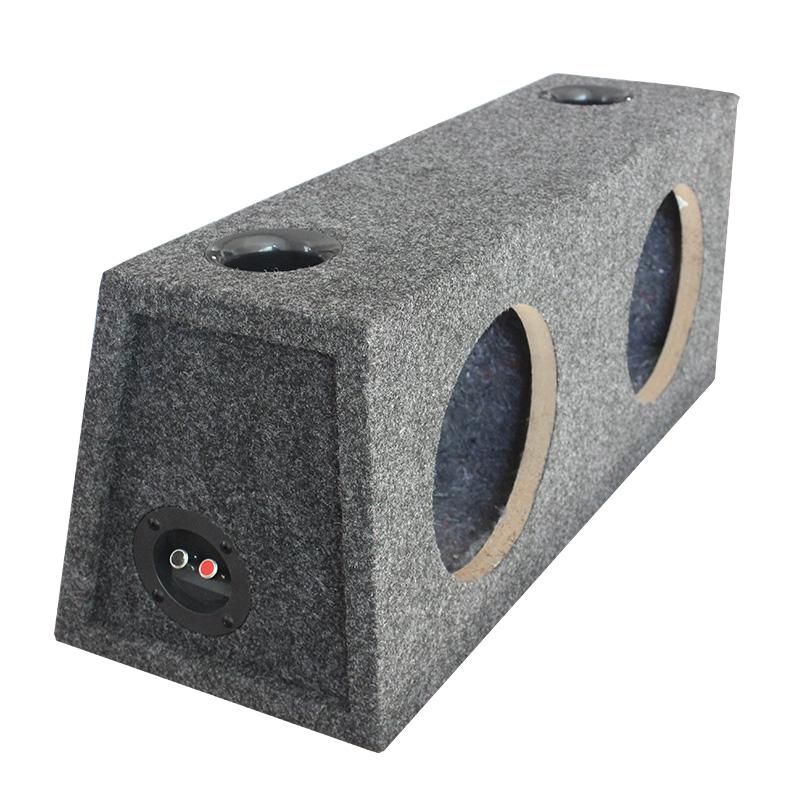 La voiture des deux Haut - parleurs accolés et 8 cm de haut - parleur double boîte vide en caisson de coquille à l'audition de la boîte