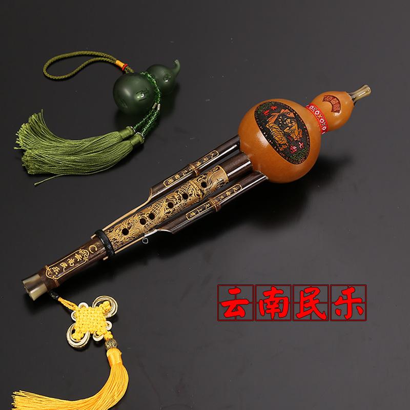 Libro de prácticas de regulación de la etapa de rendimiento de los estudiantes de libros de texto completo acompañamiento instrumental hulusi c hulusi autodidacta de Yunnan.