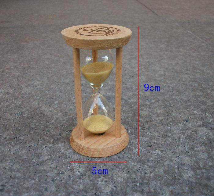 日本1/3/5分钟木三分钟沙漏刷牙泡茶美容餐饮幼儿园小礼品计时器