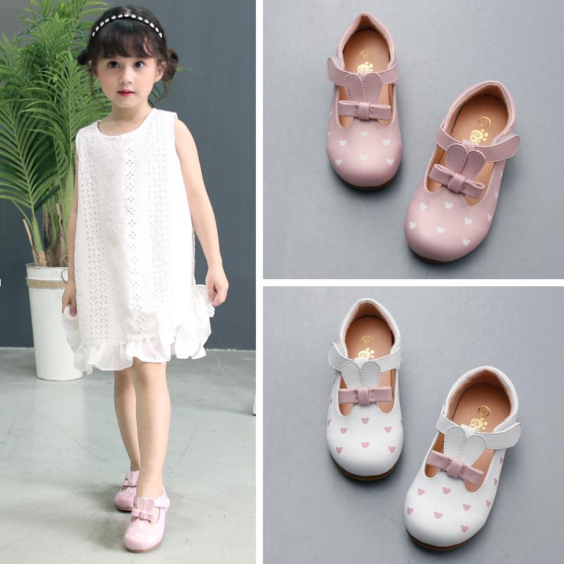 万足莉女童宝宝小皮鞋2017新款韩版春秋可爱小女孩儿童公主鞋单鞋