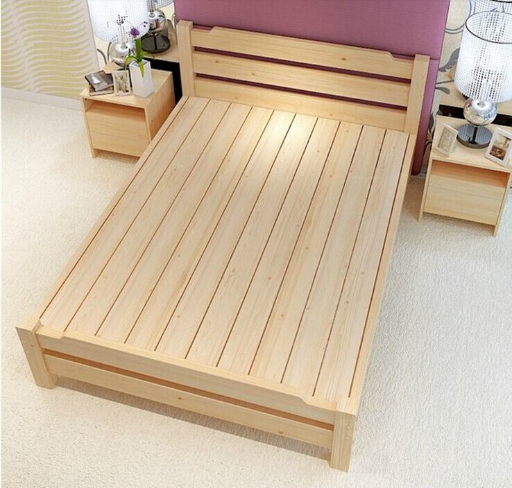 Special offer wood tatami bed single bed double bed bed bed can be customized 1.21.51.8 adult children