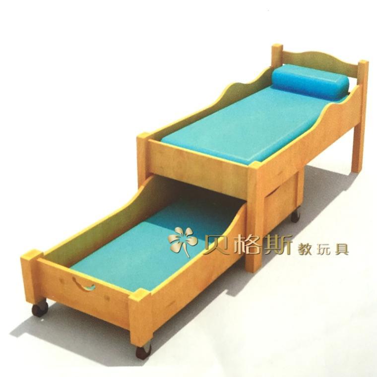 A small baby bed bed for kindergarten kindergarten children bed double push broaching machine of Pinus sylvestris