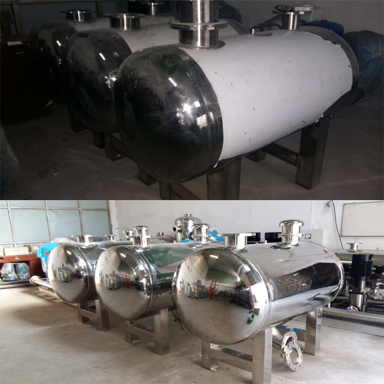 Guangzhou stainless steel tank stainless steel non negative pressure steady flow tank non pressure water equipment manufacturers compensator