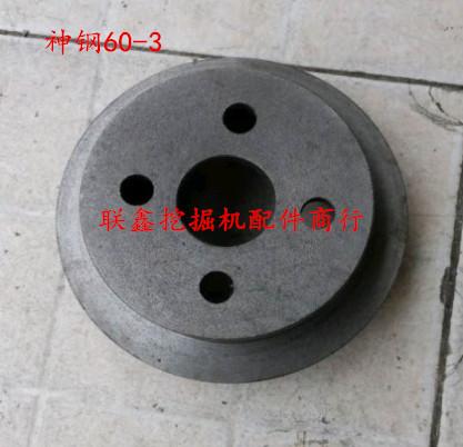 Graafmachines, kleine fan shinko SK60-3/5 onderdelen door de waterpomp dubbele draai 4BD1/4JG1 motor