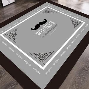 北欧潮牌粉色卡通地垫长条厨房床边地毯家用防滑吸水圆形地毯镜子