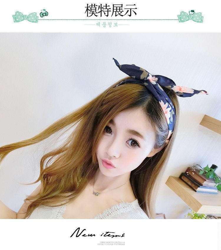 Милый кролик уши горячий душ макияж бант умыться Баотоу полотенце с обруч на голову делать маски обруч пучка