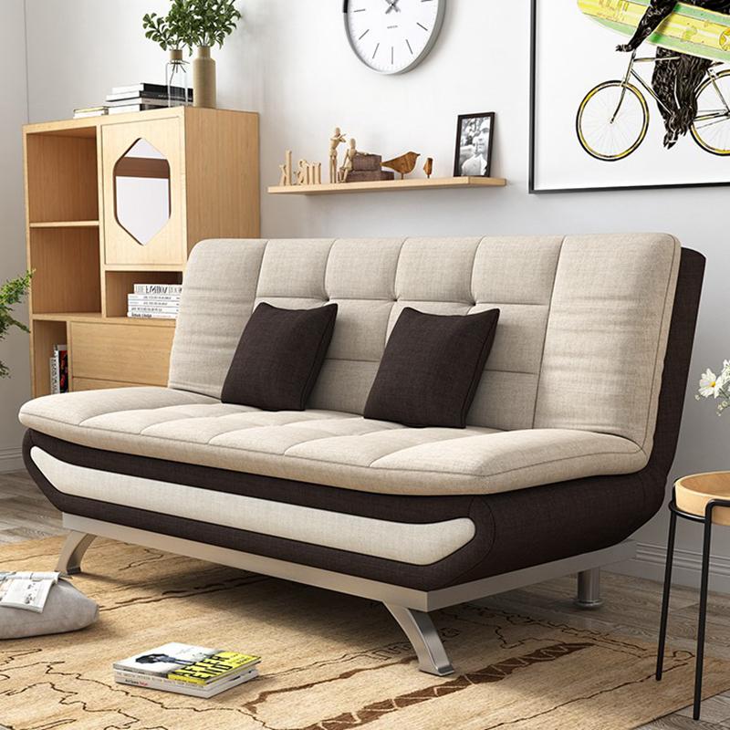ソファーベッド折りたたみ洗い張り客間の小型1 . 2メートルの布で現代シンプル1 . 5多機能の三人両用