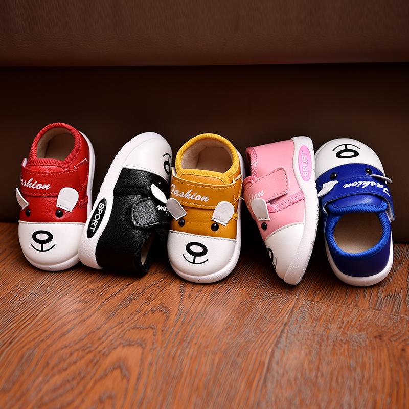秋冬季女宝宝加绒棉鞋婴儿鞋男童鞋子公主鞋软底学步鞋皮鞋1-3岁2