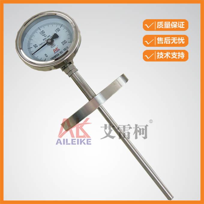 バイメタル温度計WSS-484万象型フランジ工業温度計ボイラー配管温度計
