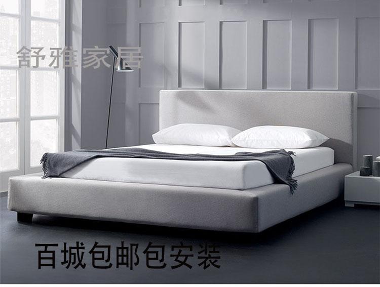 Modern minimalist soft fabric bed cloth bed Zhuwo double 1.81.5 Jane washable bed large-sized apartment furniture