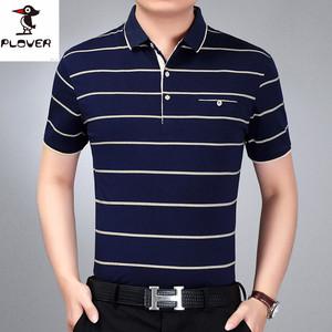 啄木鸟夏天装短袖t恤40-50岁中老年人男士父亲节衣服爷爷polo衫