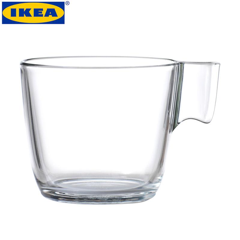 IKEA /イケア斯黛納グラス230ml耐熱強化ガラスレンジカップコーヒーカップ新品