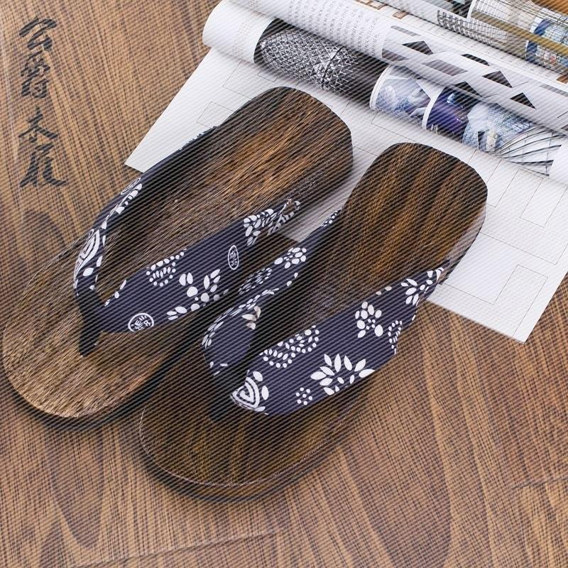 2017拖鞋 男士拖鞋 纯木头制作 男女通用防滑透气小脚丫木屐