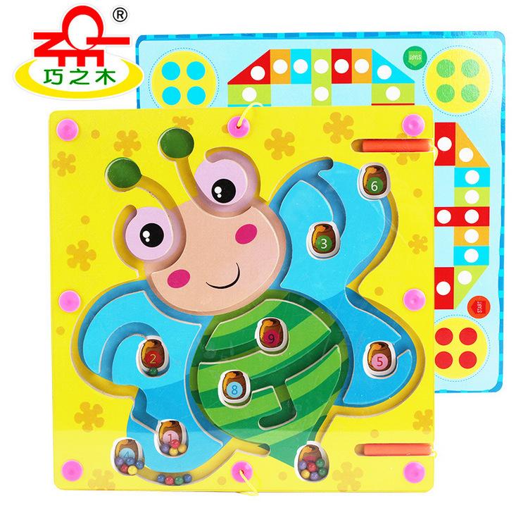magnetyczne pociągi inteligencji dziecka. stół gry w warcaby. małe labirynty najwyższej klasy w przedszkolu.