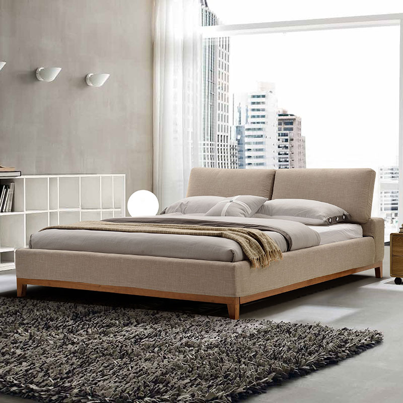 The cloth 2 meters 2.2 meters double bed bed Zhuwo washable bed simple modern large-sized apartment bed