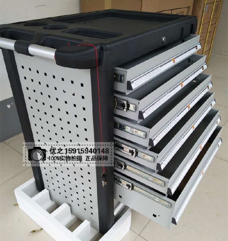 Eagle 7 drawer tool cabinet with FY707 trolley mobile Turner seven layer service parts, car repair tools