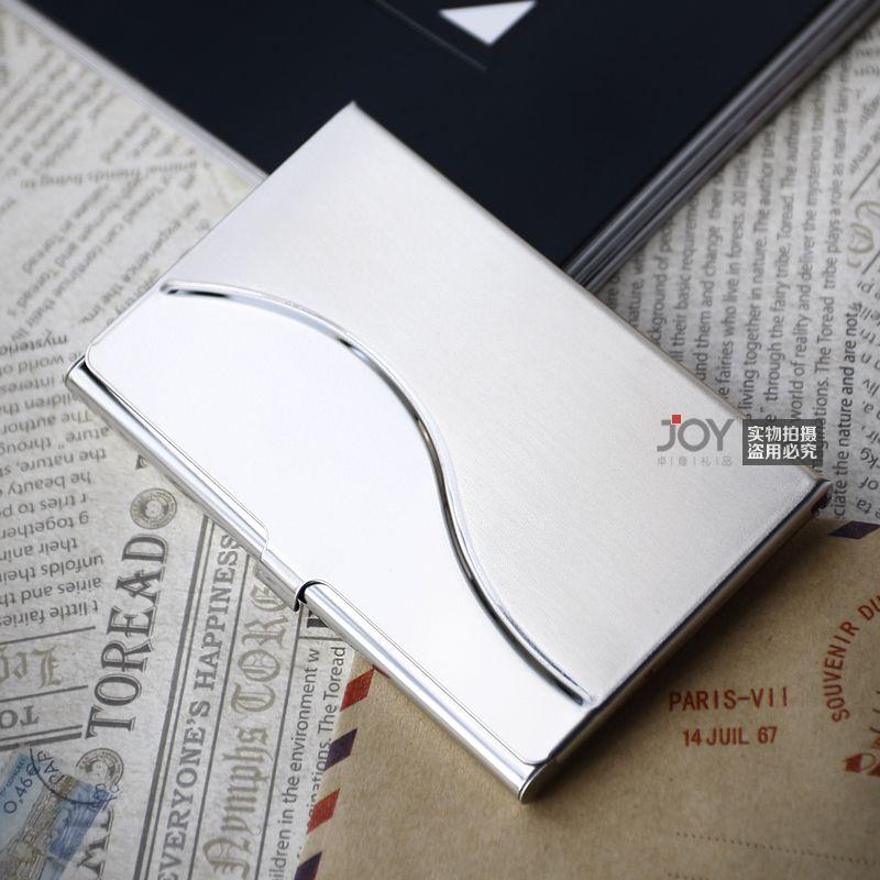 Men and women business, high grade metal business card folder, creative custom made stainless steel ultra-thin business card box lettering