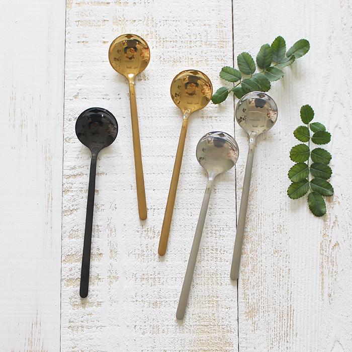 銀色咖啡勺創意不銹鋼霧面磨砂304咖啡小勺攪拌勺 甜品勺奶茶酸奶勺咖啡器具