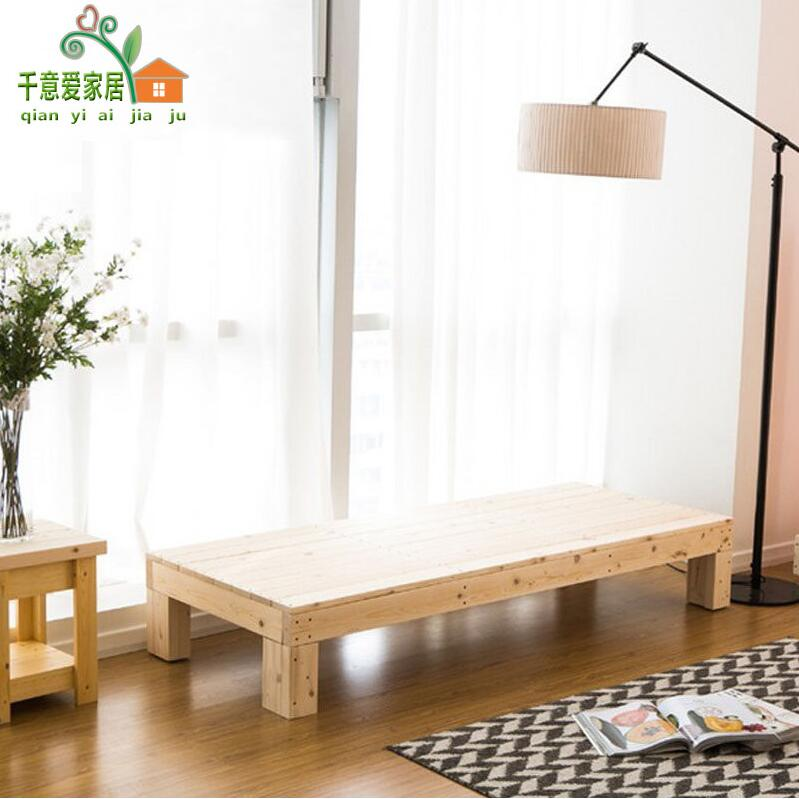 Widening bed bed single bed splicing thickening of the pure pine wood fence with wooden tatami bed bed can be customized
