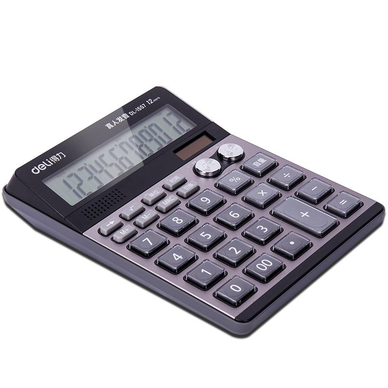 ديلي 1557 المكاتب التجارية آلة حاسبة ازدواجية السلطة المحاسبة المالية 12 صوت الكمبيوتر شاشة كبيرة متعددة الوظائف