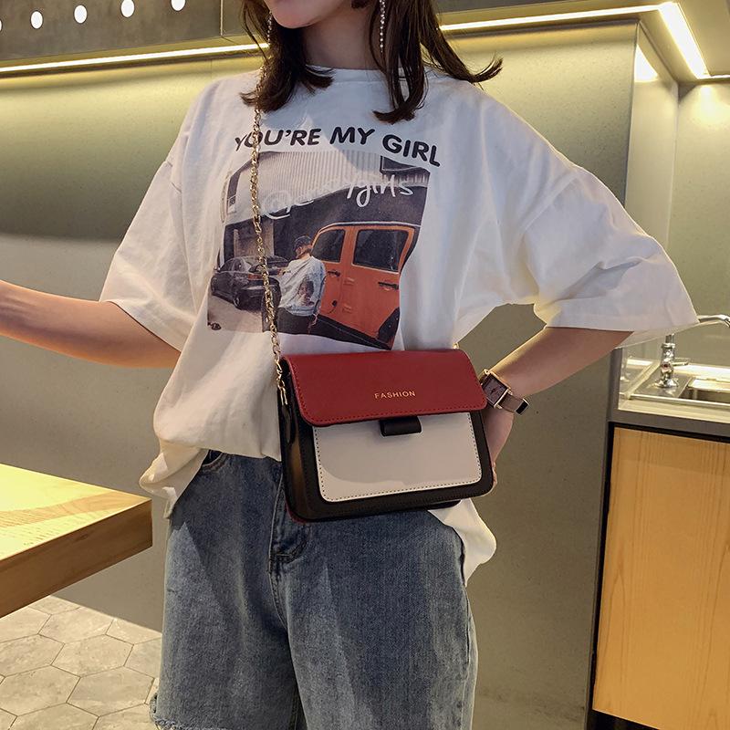 小方包包女2019新款韩版链条包女士撞色斜挎包时尚ins百搭单肩包3