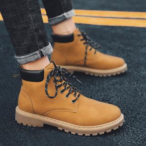 硬汉冬季男鞋高帮鞋马丁靴工装靴户外鞋棉鞋复古靴百搭出众潮鞋
