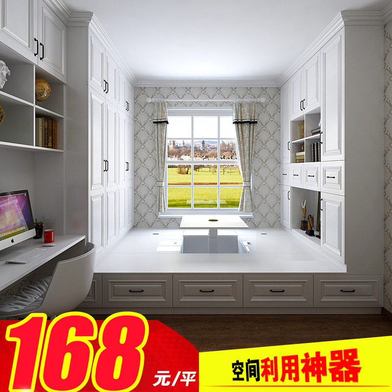 Tatami custom tatami bed tatami bed whole child m bed bedroom European style wooden platform bed