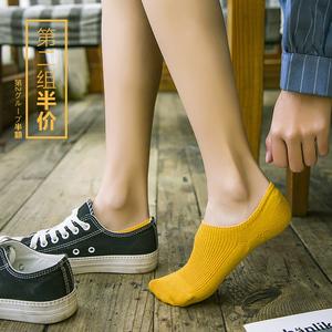 袜子女纯色浅口船袜女短袜学院风纯棉低帮学生夏季薄款防滑隐形袜