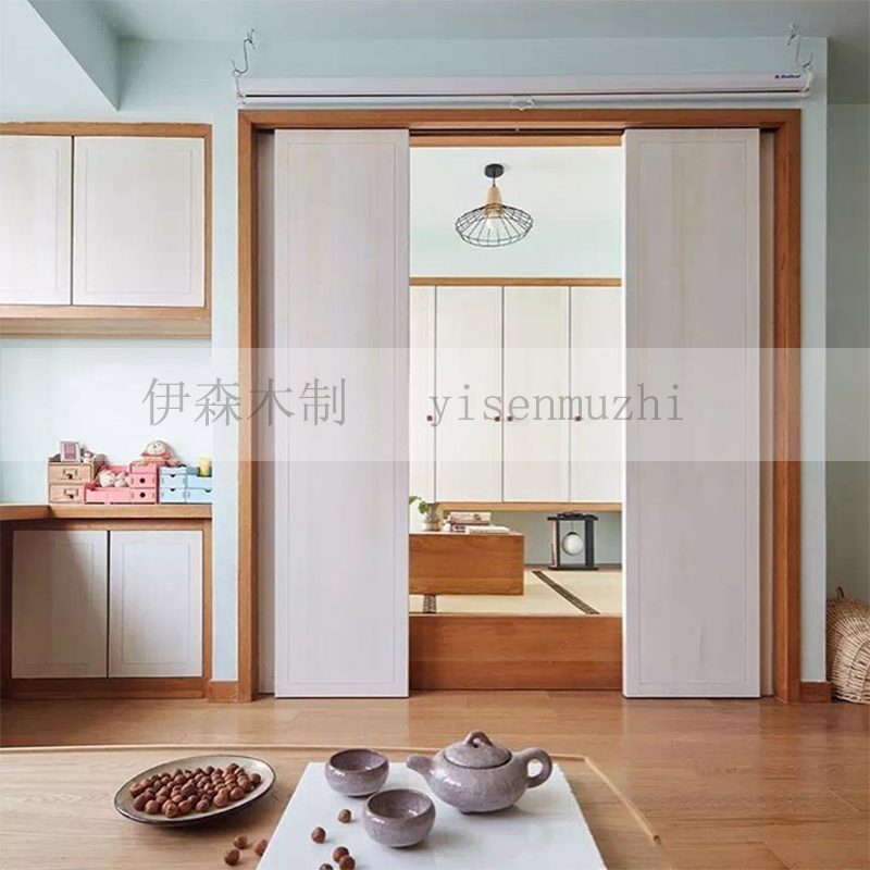 Ethan custom tatami simple modern solid wood bedroom bed bookcase wardrobe customized Japanese tatami room partition