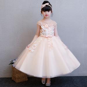 儿童礼服公主裙女童蓬蓬纱中大童长裙主持人晚礼服花童钢琴演出夏