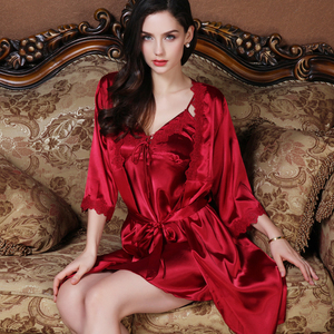 上海故事睡衣女夏季冰丝性感火辣成人吊带睡裙夏天薄款两件套套装