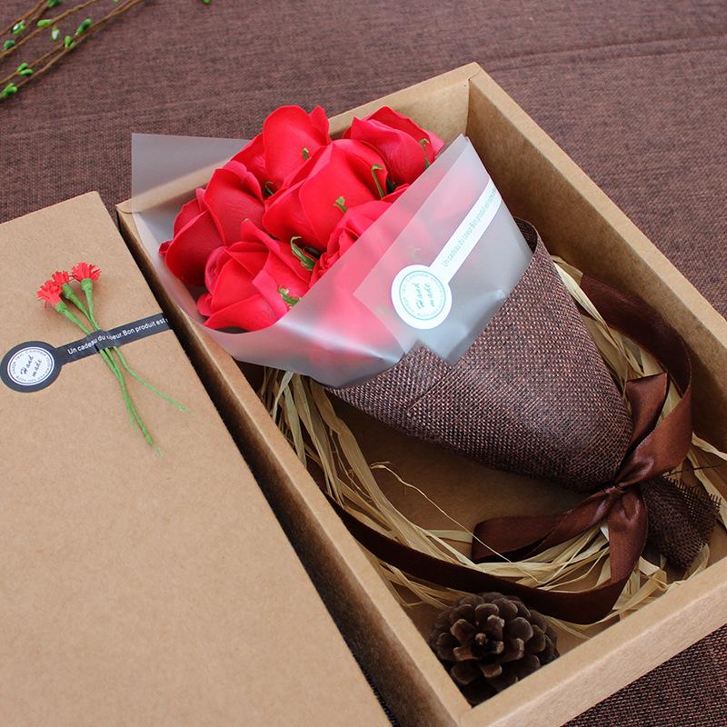 玫紅色情人節生日禮物送女友男女生朋友愛人老婆特別驚喜浪漫愛情小禮品