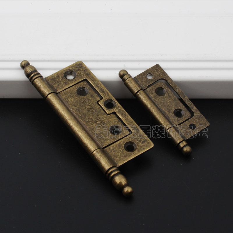 Do the old antique furniture door hinge small Qing Gu mother crown head door hinge hinge copper 2.5 inch 3 inch