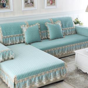 加厚冬季沙发垫欧式布艺沙发套简约现代防滑皮沙发坐垫四季沙发罩