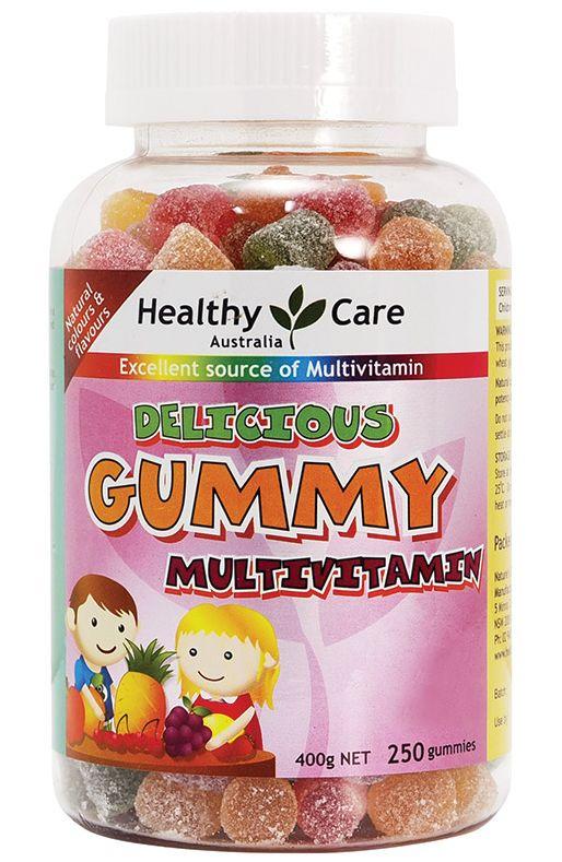 Australia direct mail HealthyCareDeliciousGummy 250 crianças de vitaminas doces