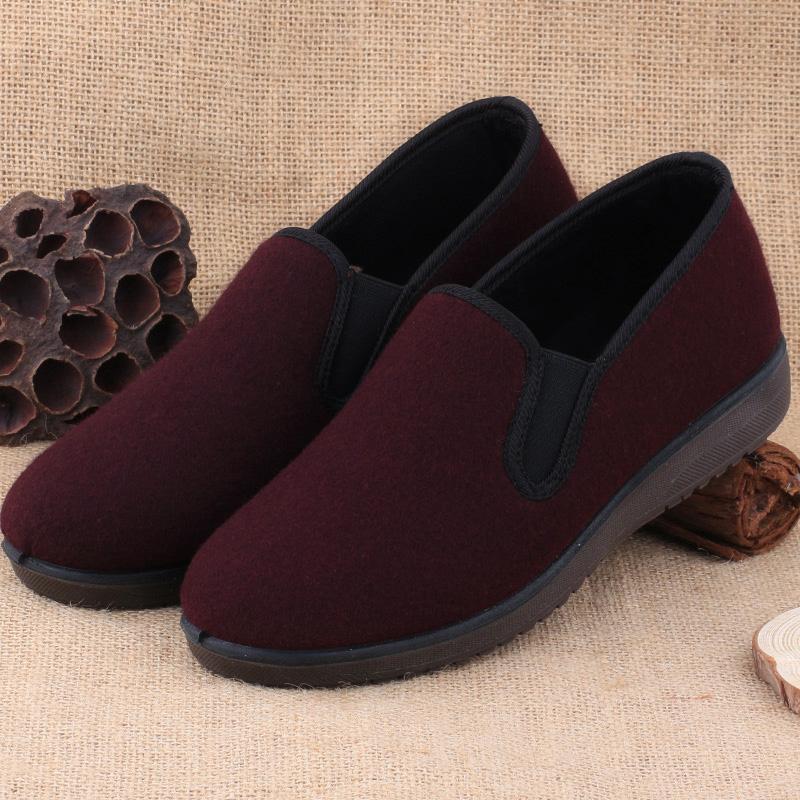 老北京布鞋女款棉鞋冬季中老年妈妈鞋防滑保暖老年加厚奶奶二棉鞋