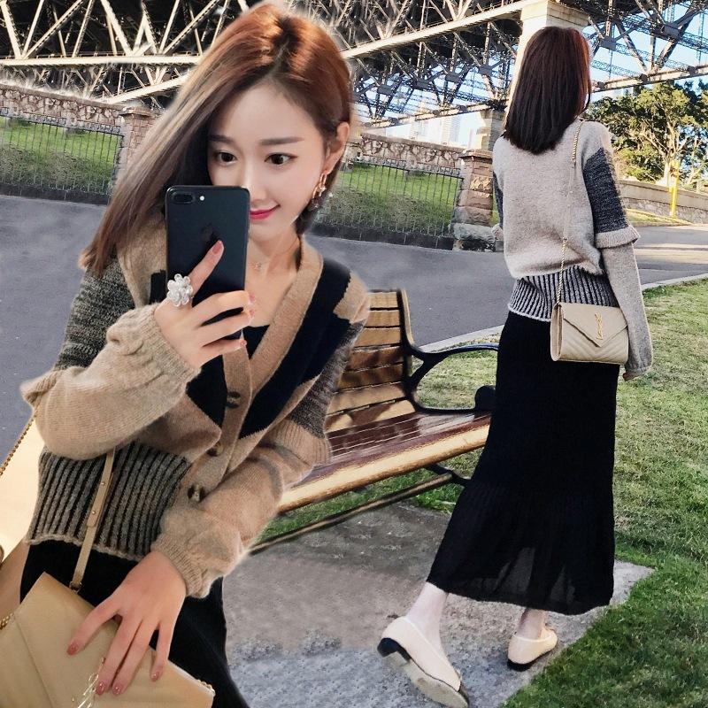 47秋冬装新款韩版女装时尚气质毛衣两件套名媛套装女潮