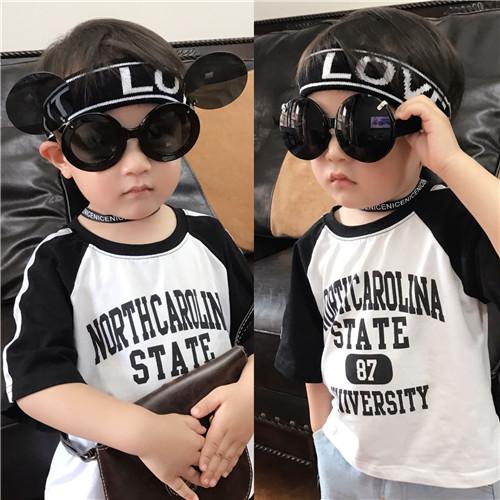 儿童眼镜太阳镜男童女童墨镜眼镜宝宝太阳眼镜潮个性翻盖眼镜