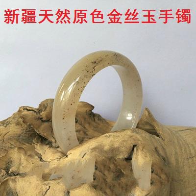 新疆金丝玉手镯乌尔禾戈壁玉彩玉沙漠漆挂件脂玉白玉籽料山料包邮