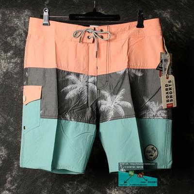 Vans 美国正品潮牌椰子树拼色徽章速干休闲沙滩裤男士夏季短裤