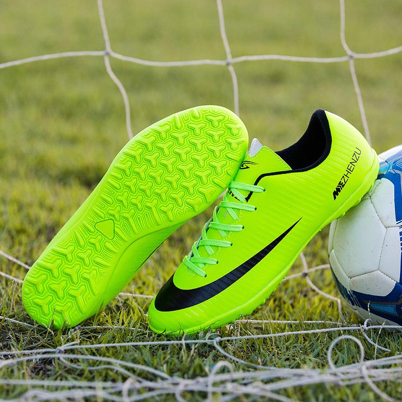 足球鞋碎釘tf青少年訓練鞋防滑ag足球鞋男女長釘人造草地兒童球鞋