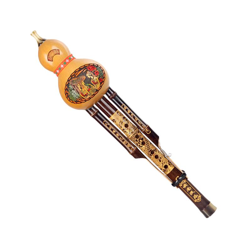 Los estudiantes principiantes Bambusa hulusi instrumentos bemol c hulusi envía cajas y nudo chino