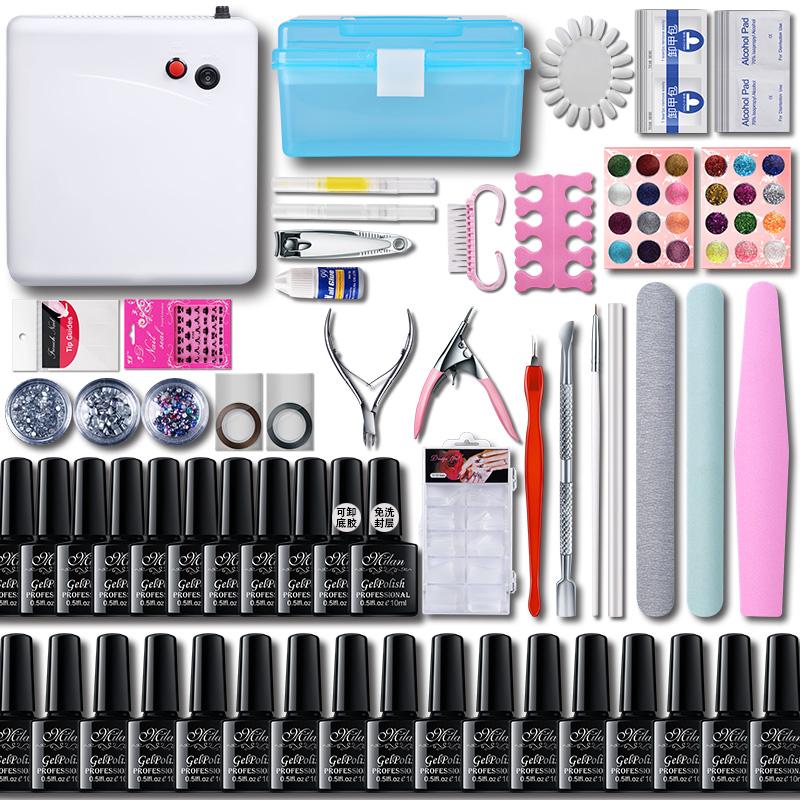 Nail tool kit, a full set of shop, mail, phototherapy machine, light nail, phototherapy, persistent nail polish Gel Nail Kit