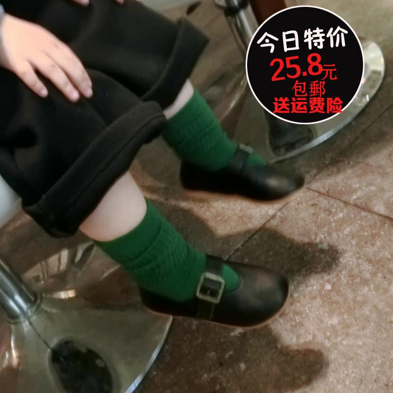2017春秋韩版新款宝宝公主鞋女童春鞋单鞋儿童豆豆鞋奶奶鞋小皮鞋
